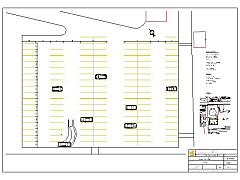 Tatabánya Sportpálya parkolójának felfestési terve